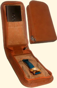 Leatherette Wallet for 1 watch + 1 pocket for guarantee