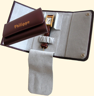 Leather Wallet for 1 watch